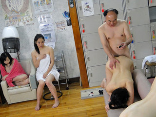 Kotomi Asakura and Jun Sena fucked by a man